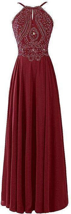 Charming Prom Dress,Beading Chiffon Prom Dresses,Long Evening Dress,Formal