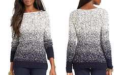 Lauren Ralph Lauren Ombré Cable Knit Sweater
