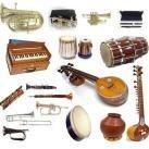 INDIAN FOLK MUSIC : Bansuri, Bombashi, Chimptas, Daf-frame drum, Damaru-hourglass drum, Dhol, Dholak-barrel drum, Dholki-barrel drum, Dotar #1-simple lute, Dotar simple lute, Ektar-simple lute, Gettuvadyam-hammered lute, Ghatam-clay pot, Ghungharu-small bells, Gopichand, Idakka and Udaku, Kamancha-simple fiddle, Kartal, Khol-clay drum, Magadi Vina, Murchang-jaw harp, Naggada-kettle drums, Nakula-bamboo lute, Pena, Pung, Pungi , Rabab-lute, Ravanhasta, Santur, Saringda, Shankh, Thanthi Panai