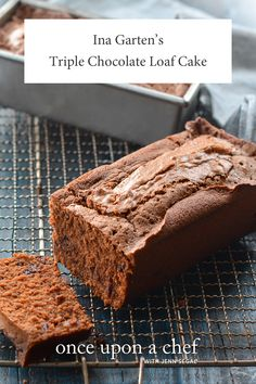 Triple Chocolate Loaf Cake - too good not to share. It's perfect for Valentine's Day or any day — and the recipe happily makes two cakes, so one for your family and one to give away (or stash in the freezer for your next chocolate fix! Chocolate Loaf Cake, Chocolate Flavors, Melting Chocolate, Chocolate Recipes, Delicious Desserts, Dessert Recipes, Loaf Recipes, Dessert Bread, Cupcake Recipes