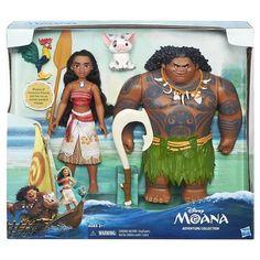 Disney Moana of Oceania, Maui, Hei Hei, and Pua Adventure Collection Moana Disney, Disney Princess Toys, Princess Moana, Disney Dolls, Baby Girl Toys, Toys For Girls, Moana E Maui, Best Kids Toys, Animation