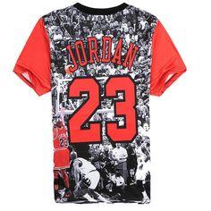 Alisister Mens Jordan Camiseta 23 de Manga Corta 3D Impreso Cadera hop camiseta 2017 inconformista de los hombres streetwear clothing punk tees camisetas