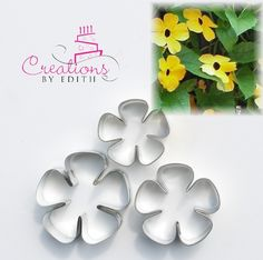 California poppy petal cutter. For cold porcelain or gum paste