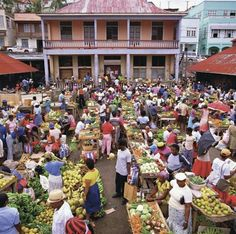 Market day in St Georges - capital of Grenada