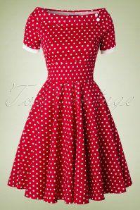 Dolly and Dotty Darlene Red Polkadot Swing Dress 102 27 18773 20160330 Retro Vintage Dresses, Vestidos Vintage, Retro Dress, Vintage Outfits, Vintage Fashion, 1950s Fashion Dresses, African Fashion Dresses, African Dress, Fashion Outfits