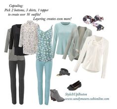 """""""Wardrobe Capsuling for Spring travel!"""" by sandramauro ❤ liked on Polyvore featuring CAbi and Restricted"""