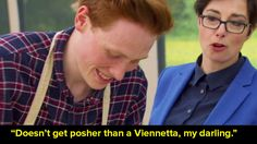 When Andrew said that his marjolaine looked like a posh Viennetta and then Sue said this: