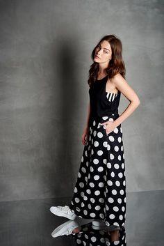 Dots maxiskirt