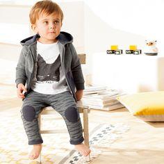 Conjunto com 3 peças camisola, casaco e calças estilo fato de treino R Baby   La Redoute