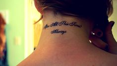 """""""After all this time?""""""""Always,"""" said Snape.  I got this tattoo to commemorate the last of the Harry Potter films. Wenatchee, Washington."""