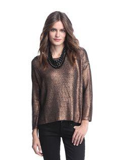 BB Dakota Women's Chey Metallic Foiled Sweater at MYHABIT