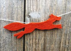 Fox Garland Felt Garland Fox Bunting Fox Decor Fox by FeltWitch