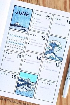 22 super fun blue bullet journal spreads for 2019 - doodle ideas - hybrid electric . - Stricken ideen - 22 Super Fun Blue Bullet Journal Spreads for 2019 – Doodle ideas – Hybrid Electric … – – - Bullet Journal School, Bullet Journal Weekly Layout, Bullet Journal Writing, Bullet Journal Aesthetic, Bullet Journal Ideas Pages, Art Journal Pages, Art Journal Challenge, Art Journal Prompts, Art Journal Techniques