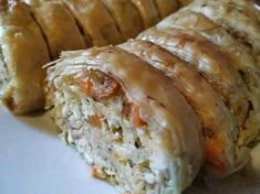 Cookbook Recipes, Pie Recipes, Cooking Recipes, Greek Recipes, Sushi, Food And Drink, Sweets, Stuffed Peppers, Dishes