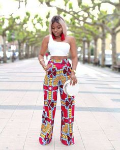 These chic Ankara styles are perfect African Print Fashion ideas for the weekend. African Fashion Ankara, African Inspired Fashion, Latest African Fashion Dresses, African Print Fashion, Africa Fashion, African Print Pants, African Print Dresses, African Dress, African Prints