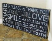 love this pallet board sign - my daughter made one and it looks awesome on her wall.