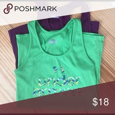 Two small under Armour tanks for the price of one! Two size small tank tops under Armour. The purple tank is plain Under Armour Tops Tank Tops