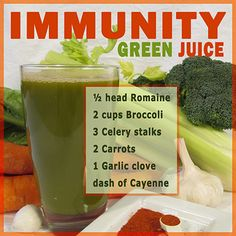 Immunity Green Juice Recipe  http://www.robinskey.com/