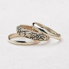 wedding rings Cute Jewelry, Jewelry Rings, Jewelry Box, Silver Jewelry, Jewelry Accessories, Fashion Accessories, Jewlery, Indian Jewelry, Bling Bling