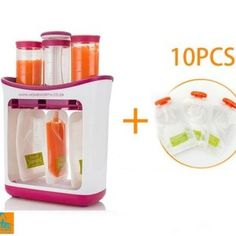 Baby Food Maker Baby Feeding Containers Storage Supplies Newborn Toddler Solid juice maker with 10 Pouches Squeez storage bag Baby Food Containers, Storage Containers, Food Storage, Baby Food Makers, Making Baby Food, Fruit Puree, Food Stations, Toddler Snacks, Baby Snacks