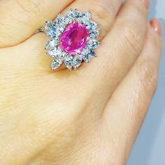 """JEANNA (@borgee_jewellery) on Instagram: """"Pink sapphire. #design#dubai #love"""" Pink Sapphire Ring, Sapphire Jewelry, Pink Diamonds, Gems Jewelry, Jewellery, Saphir Rose, Expensive Jewelry, Luxury Jewelry, Pretty In Pink"""