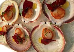 12th-19th of March: Lucky bay scallops, candied Jamon, lemon pudding at Mosmans Restaurant on the Swan River, Mosman Park, Perth