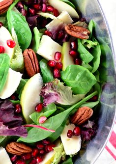 Holiday recipes to try this season: Pomegranate, Pear, Pecan and Brie Salad