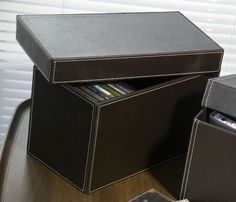 Faux Leather CD Storage Box & Faux Leather DVD Storage Box   Grey Park Lodge- A house in the ...