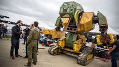 We ran into a giant mech at Maker Faire! Megabots' creators constructed this massive concept robot in hopes of building a league of combat bots for spectator...