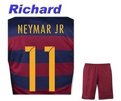 Barca Home #11 Adult Soccer Jersey 2015/2016 with Free Short a Set Medium