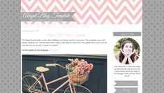 Chevron Premade Blogger Template