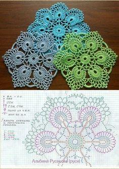 Crochet lace motif square ganchillo 52 Ideas for 2019 Crochet Mandala Pattern, Crochet Doily Patterns, Crochet Blocks, Crochet Diagram, Crochet Chart, Crochet Squares, Thread Crochet, Crochet Granny, Crochet Designs
