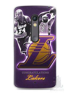 Capa Capinha Moto X Play Lakers - SmartCases - Acessórios para celulares e tablets :)