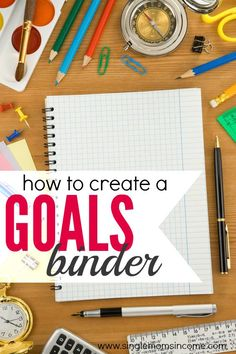 How (and Why) to Create a Goals Binder - Are you full of ideas? Do you have trouble staying focused long enough to reach your goals? If so, a goals binder can help. Here's how to make one. Filofax, Planners, Blogging, Goal Planning, Planner Organization, Organizing Ideas, Bathroom Organization, How To Get, How To Plan