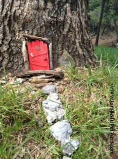 I want to go to parks and place fairy doors where kids can see ~ Add some magic to thier imagination ~ Cute fairy door