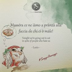 #AnDante's favourite #quotes are the ones about #food. #Italiantraditions wishes you #goodevening with this popular saying from #Lazio, that invites us to enojy our food in spite of haters.  #saggiassaggi #wordsofwisdom #dailyquote