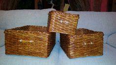 Košíky z papírových ruliček
