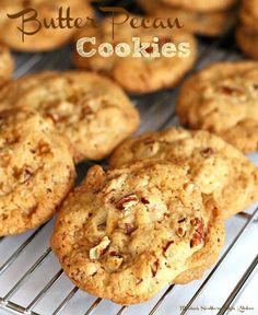 Butter Pecan Cookies Galletas Cookies, Candy Cookies, Cookie Desserts, Yummy Cookies, Cookie Bars, Cookie Recipes, Dessert Recipes, Dessert Ideas, Angel Cookies