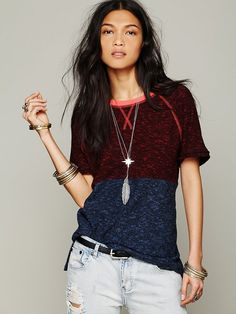 April May Two Tone Pullover at Free People Clothing Boutique