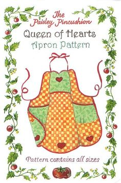 VINTAGE STYLE Queen of Hearts Apron by DorothyPrudieFabrics, $8.95