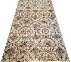 ww.aksaraycarpet.com #carpet #rug #rugs #vintage #overdyed #patchwork #homedecoration #decor #interiordesign #etsy #allover Turkish Artdeco Rug Allover Design 83 x 46