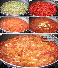 Menemen Tarifi Turkish Recipes, Ethnic Recipes, Brunch Recipes, Brunch Food, Middle Eastern Recipes, Cookie Bars, Scones, Salsa, Food And Drink