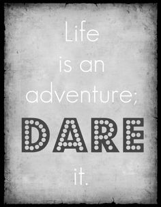 Life is an adventure; dare it. #quote https://www.facebook.com/HappyBox365