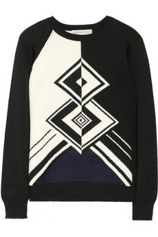 Emilio Pucci Patterned wool sweater   THE OUTNET