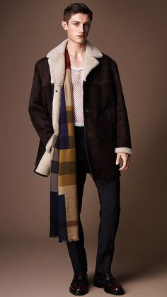 Sueded Sheepskin Jacket: One of my favourite runway looks from the @Burberry Prorsum Menswear A/W14 show