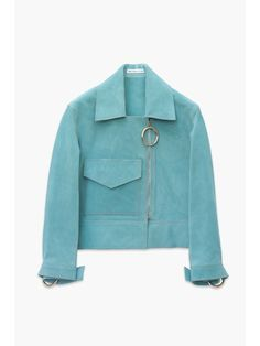 Magical turquoise suede jacket