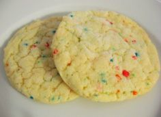 One Pinner Said: Make cookies from any cake mix. One box cake mix, 1/2 cup Oil, 2 eggs. That's it!  This cake mix to egg to oil ratio can be used with all cake mix flavors. My mother made us these cookies when we were children and now I make them for my kids all the time. We use all kids of flavors and have fun trying different things in them. (Chocolate chips, nuts etc) KJB