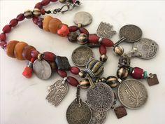 Silver hamsas real amber new coral Samburu beads Venetian. pumtek Burma. turquoise. AnnsEthnicJewellery
