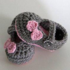 zapatos tejidos | Moda para bebés » Hermosos zapatos tejidos para bebés 2