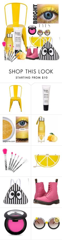 """Lively Lemon"" by helenthomas79 ❤ liked on Polyvore featuring beauty, Flash Furniture, philosophy, Jessica McClintock, Dr. Martens, Rad+Refined and brighteyes"